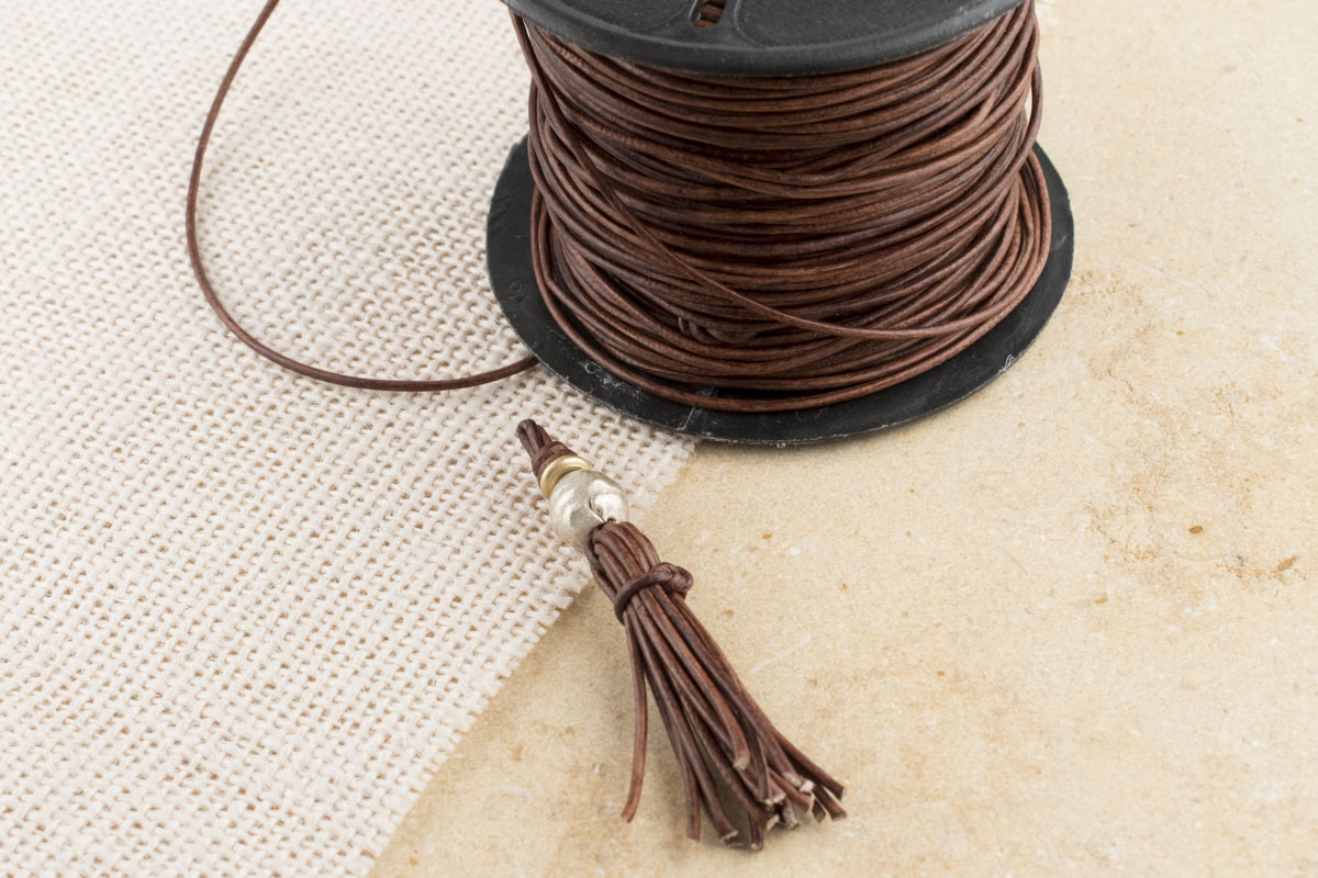 How to Make a Tassel with Round Leather Cord